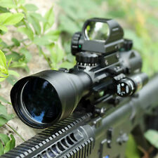 Pinty 4-12X50 Eg Hunting Rifle Scope w/ Holographic Reflex Sight + Red Dot Laser