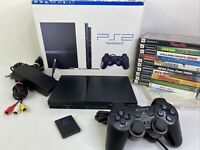 Sony Playstation 2 Slim (PS2) Model SCPH-70012 w/ Box + 10 Games Console Bundle!