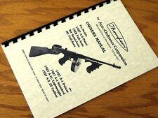THOMPSON Tommy Gun 1927 1928 & M1 OWNERS Gun MANUAL