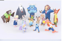 12pcs Disney Pixar Zootopia Zootropolis Toy Action Figure Judy Hopps Nick Wilde
