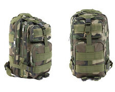 Camo Army Green Military Rucksack Bag Carry Tactical Hiking Travel Backpack 30L