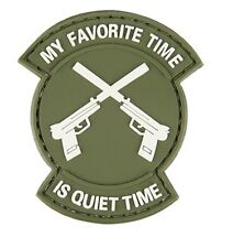 "AC-130N: Lancer Tactical ""MY FAVORITE TIME IS QUIET TIME"" PVC PATCH (OD)"
