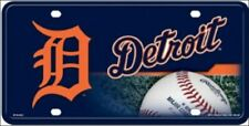 DETROIT TIGERS LICENSE PLATE METAL FREE SHIPPING OFFICIALLY LICENSED