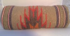 "Bolster Cushion Case, Handmade Turkish Kilim Pillow Cover, Boho 8x20"" (20x50cm)"
