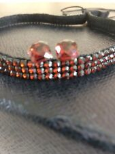 Mocha crystal hair band & stud earrings
