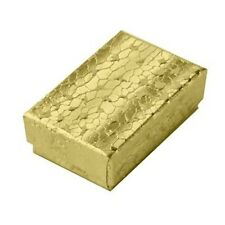 100 Gold Small Cotton Filled Jewelry Packaging Gift Boxes 1 78 X 1 14 X 58