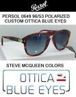 Occhiali da Sole Persol PE 0649 649 Sunglasses Steve McQueen CUSTOM 96s3 Polar