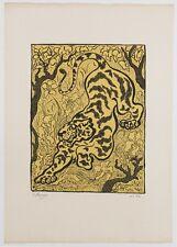 """RANSON Paul Elie """"Tigre dans les jungles"""". RARE lithographie originale SIGNEE"""