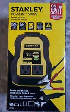Stanley PI500S 500-Watt Portable Power Inverter 3.1 amp w/ USB NEW in Box
