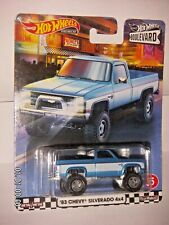 Hot Wheels 2020 Boulvevard '83 Chevy Silverado 4X4 Premium Real Riders Metal