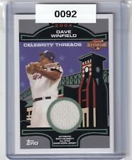 2004 Topps Dave Winfield Celebrity All Star Game jersey relic