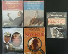 Sherlock Holmes Audio Books Bundle x5 Tape Sets [Sir Arthur Conan Doyle]