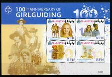Maldivian Sheet Scouting Postal Stamps