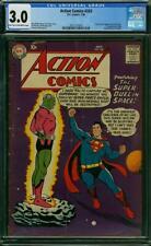 Action Comics #242 CGC 3.0 DC 1958 1st Brainiac! Key Silver Age! K12 205 1 cm