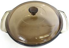 Anchor Hocking Amber Brown Glass Lid Casserole Dish 1.5 1 1/2 Quart Ovenware