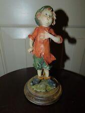 """1982 Giuseppe Armani Capodimonte Figurine Boy whistler 7 1/4"""" tall"""