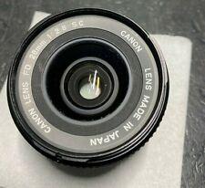 Canon FD NFD 28mm f/2.8 35mm Film camera MF Lens from Japan