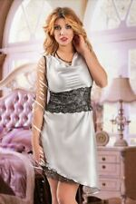 Nine X Ladies Satin Babydoll Dress Plus Size Lingerie 8-24 S-6XL Nightwear