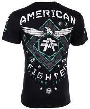 American Fighter Mens S/S T-Shirt ABRAHAM Eagle BLACK Athletic Gym S-3XL $40