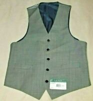 $125 NEW NWT RALPH LAUREN LRL MEN'S WOOL DRESS SUIT VEST SIZE SZ MEDIUM M GREY