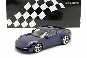 Porsche 911 (992) Carrera 4S Baujahr 2019 enzian blau 1:18 Minichamps