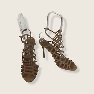 Steve Madden Womens Size 10M Slithur Suede Gladiator Strappy High Heels Shoes