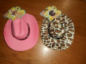 RUBIES PET SHOP  Boutique Dog Costume Cowboy/Cowgirl Hats Pink/Brown New MED/LAR