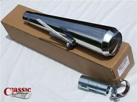 UNIVERSAL SHORT RACE MEGAPHONE EXHAUST SILENCER TO SUIT CAFE RACER
