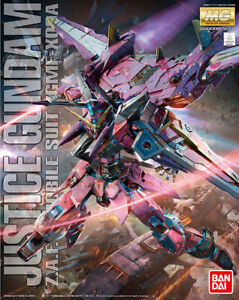 BANDAI MG 1/100 plastic Model kit ZGMF-X09A JUSTICE Gundam SEED AU STOCK