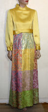 Malcolm Starr MCM mod  metallic maxi gown designed by Rizkallah 8 distress