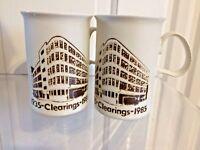 Vintage Dunoon Mugs Scottish History Clearings 1935 - 1985 Scotland Ceramic 80s