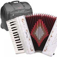 Rossetti, 3032, WHITE Piano Accordion 32 Bass, 30 Key, 3 Switch, Gig Bag & Strap