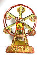 Vintage 1950's  J Chein   Hercules Tin Litho Ferris Wheel  Wind-Up Toy