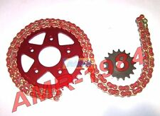 SET TRANSMISSION CAGIVA MITO 125 ENGRENAGE ERGAL ROUGE CHAÎNE PIGNON