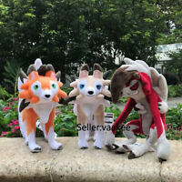 3 Styles Pokemon Center Plush Lycanroc Dusk Midnight Rugarugan Stuffed Toys Doll
