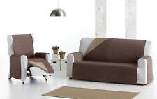 Practica funda de sofa tela reversible beig marca Eysa para 1,2,3,4 plazas