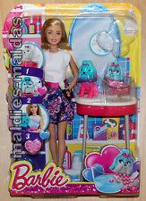 Barbie farbspaß tiersalon cfn40 nuevo/en el embalaje original muñeca perro colores cambiantes
