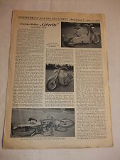 Werbung Reklame Oldtimer Prospekt Pressesonderdruck Göricke Roller Görette 1955