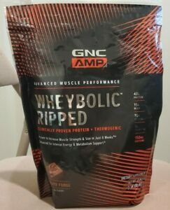 GNC AMP WHEYBOLIC RIPPED ADVANCED MUSCLE PERFORMANCE CHOCOLATE FUDGE