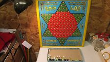 Old Northwestern San Loo Chinese Checker Board & Marbles