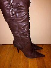 MADISON STUDIO Leather Stilettos Dominatrix High Heels Boots Womens Shoes Sz 6.5