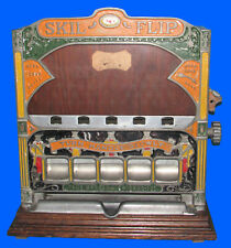 Nice Original Pace Mfg Skil-Flip Trade Stimulator Penny Coin Op Game Five Jacks