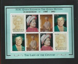 Antigua (2002) Souvenir Sheet MNH  - Queen Mother