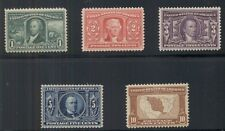 US #323-7 Complete Louisiana Purchase set, og, NH except 5¢ VLH VF/XF Scott $720