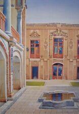 "Large Persian Painting Persia Iran Arak Lithograph Print Fine Art 13"" x 9.5"""