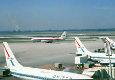"""TWA Boeing 707-131 N736TW Taxiing at ORD August 1970 8""""x12"""" Color Print"""