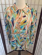 Missoni for Target Women's BLUE MULTI CREPE Blouse Size SMALL *NWT*