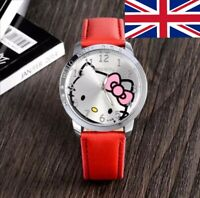 Hello Kitty Ladies Girls Womens Wrist Watch Quartz Bracelet Analog Fashion UK