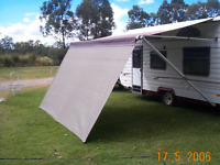 Shade Curtain/Privacy screen 2.1 x 4.5m(6.9x14.7ft) for caravan Roll out Awning