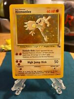 Pokemon Hitmonlee Fossil Set Holo 7/62, Unlimited Rare Foil